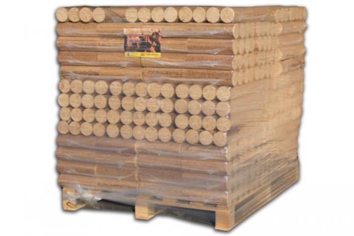 Premium BIO Holzbriketts rund ohne Loch