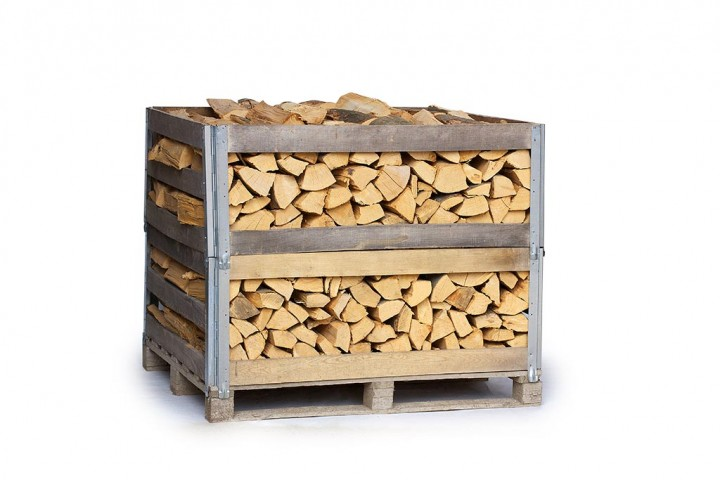 Brennholz Buche (1 RM bzw. 2 RM Mehrwegkiste; 25cm und 33 cm trocken)