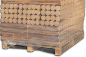 Bio Holzbriketts rund ohne Loch (Halbpalette)