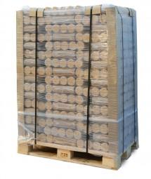 Mischholzbriketts rund ohne Loch (Premium Qualität)
