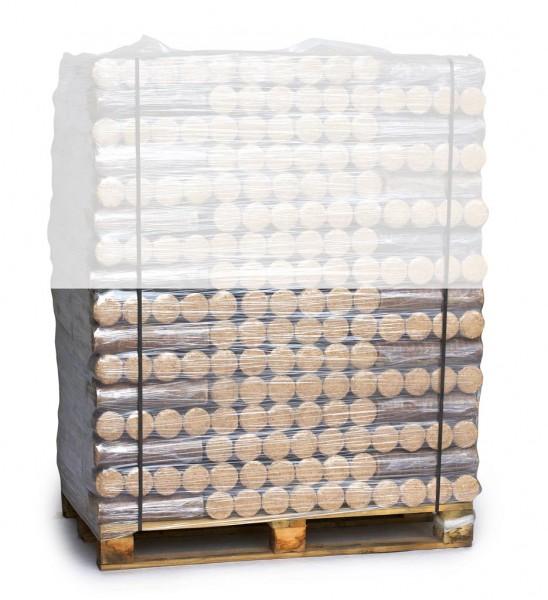 Buchenbriketts rund ohne Loch auf Halbpalette (480 kg)